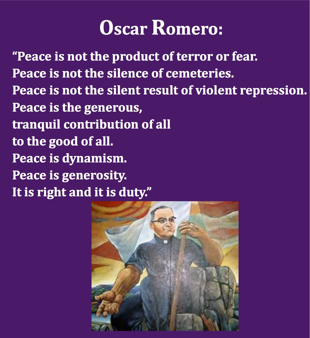 Oscar Romero on bishop oscar romero prayer